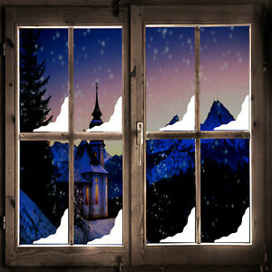Christmas Snow Corner Window Stickers Pack x8 - Vinyl Peel & Stick Decoration