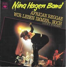 "45 TOURS / 7"" SINGLE--NINA HAGEN BAND--AFRICAN REGGAE / WIR LEBEN IMMER NOCH--80"