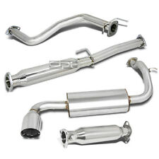 "FOR 88-91 CIVIC ED 3DR 4.5"" MUFFLER TIP STAINLESS STEEL CATBACK+CAT EXHAUST PIPE"