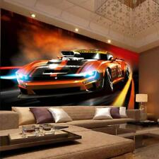 Wallpaper 3D Stereo Mural Living Room Bedroom Interior Design Sports Car Pattern