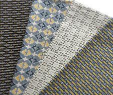 4 Fat Quarters Bundle Geometric Black Yellow Grey Pattern Fabric -100% Cotton