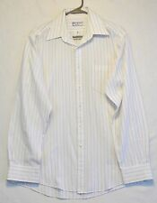 YVES SAINT LAURENT VINTAGE SHIRT WHITE Striped IMPORTED COTTON MENS 16-34/35