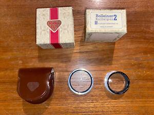 Mint Rolleiflex Rolleinar 2 Bay III / Bay 3 w/ Leather Case and Original Box