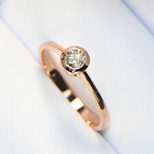 NEU Diamantring in Roségold Solitär 0,25 ct Verlobungsring Brillant 18K