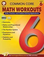 Common Core Math Workouts, Grade 6 (Paperback or Softback)