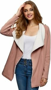 oodji Ultra Women's Wrap Cardigan with Faux Fur Lining