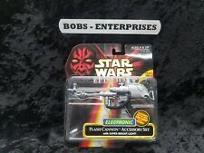 Star Wars Episode I Red Flash Cannon Accessory Set New on Card b-31