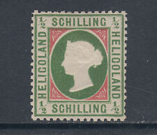 Heligoland Sc 5 MLH. 1869 ½sch embossed Queen Victoria, perf 13½x14½, almost VF