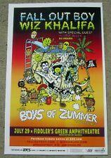 FALL OUT BOY / WIZ KHALIFA  Boys of  Zummer Tour 2015 Colorado - Gig Show Poster