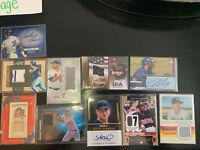 10 Card Baseball Auto/Autograph Jersey Lot- Paul Molitor, Walker Buehler