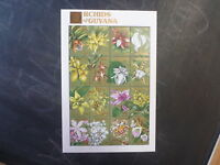 1990 GUYANA ORCHIDS OF GUYANA 16 STAMP SHEETLET MINT #2