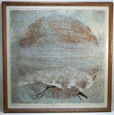 "MONHEGAN ARTIST GLEN A. KRAUSE     ""RETURN "" #15/23   1959 BLOCK PRINT"