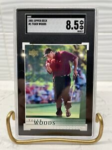 2001 Upper Deck Tiger Woods Rookie #1 SGC 8.5 NM/MT+