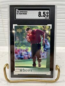 2001 Upper Deck Tiger Woods Rookie #1 SGC 8.5 NM/MT+