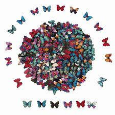 50PCS Mixed Bulk 2 Holes Butterfly Phantom Wooden Sewing Buttons Scrapbooking FT
