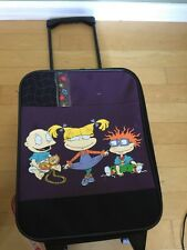 Vintage 90's Rugrats Rolling Luggage  Backpack Angelica Tommy Chuck Rare