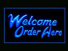 Welcome Order Here Restaurant Shop Fast Food Ads Led Light Sign B