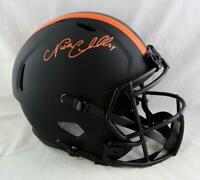 Nick Chubb Autographed Cleveland Browns F/S Eclipse Speed Helmet- Beckett W Auth