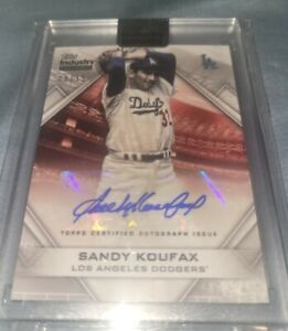 2020 Topps Industry Summit Sandy Koufax AUTO Card SP Autograph signed 8/15