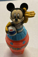 For Restore / Parts 1995 Vintage Mickey Mouse Rocket Space Bubbles Toy Free Ship
