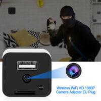 1080P Wifi Cámara Adaptador Espía Oculto Video Cargador Inalámbrico Seguridad