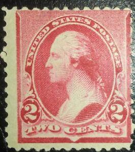Travelstamps: 1890-93 US Stamps Scott # 220 Washington, 2cents, mint, og, hinged
