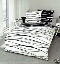 Kaeppel Mako Bettwäsche Motion schwarz/weiß 80x80 + 155x220 cm (584610)