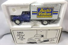 1st FIRST GEAR 1/34 1951 FORD F-6 Dry Goods Van AUTO VALUE PARTS STORE NIB
