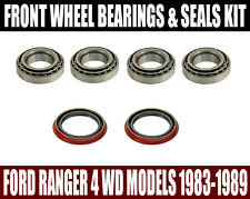 Ford Ranger 4WD Front  Wheel Bearings & Seals Premium Set 1983-1989