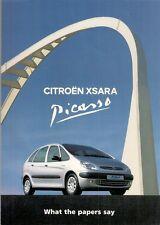Citroen Xsara Picasso Press Reviews 2000 UK Market Foldout Sales Brochure