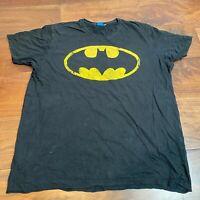 VINTAGE Mens T Shirt 2XL Black Batman Logo Graphic Tee *