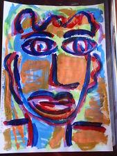 ROYSTON DU MAURIER-LEBEK ORIGINAL PORTRAIT SIGNED ACRYLIC PAINTING ON  PAPER (M