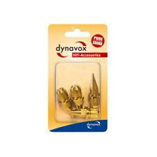 4 x Dynavox Spike Sub-Watt-Absorber Lautsprecher Spikes Messing