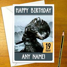 SKYRIM Personalised Birthday Card - A5 elder scrolls bethesda dragonborn fus ro