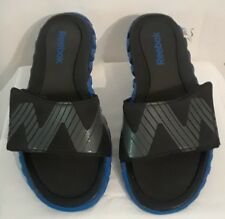 men's Reebok ZIGNANO Black & Blue Sport Flip Flop Sandals size 5
