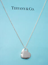Tiffany & Co Two Hearts Sterling Silver Pendant Necklace