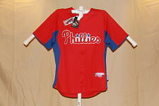 "PHILADELPHIA PHILLIES Authentic Majestic ""Cool Base"" JERSEY   XL  NWT $80 retail"