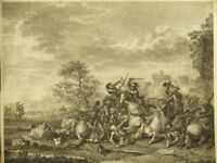 Jean Duplessis-Bertaux antique etching engraving; J. Courtois by Borel 1700's