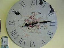 Talla Reloj de pared 36cm Nostalgia reloj Estilo Antiguo reloj de cocina ROSAS