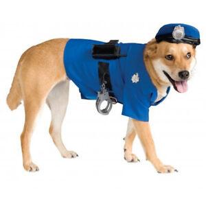 Pet Costume Blue Police Officer K-9 Big Dog Costume Blue Size M