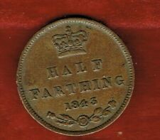 GREAT BRITAIN HALF FARTHING 1843  QUEEN VICTORIA  ...MINTAGE 3,440,640