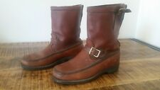 Men's Vintage Bullhide Brown Leather GOKEY Pull-On Outdoorsman Field Boots 9.5EE