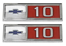 NEW Front Fender Bowtie Emblem PAIR / FOR 1965 CHEVY C10 K10 TRUCK SUBURBAN 9350