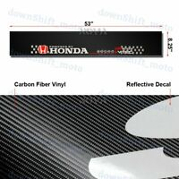 "Car Window Windshield Carbon Fiber Vinyl Banner For HONDA 53"" Logo Decal Sticker"