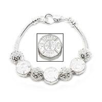 925 Sterling Silver Snake Chain Link Bracelet And Fire Dept. EMT Charms +GiftPkg