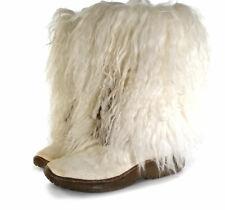 Vintage Yeti Boots Size 9 Apres Ski Beige Faux Fur Boots by Nancy Li Womens Sz 9