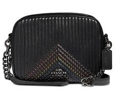 🌺🌹Coach Embellished Quilted Camera Bag 31649 Black Multi-Gold Original Pkg