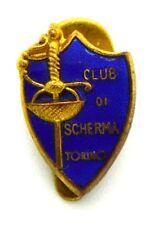 Distintivo Club Di Scherma Torino cm 1,3 x 1,9