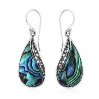 Dangle Drop Earrings 925 Sterling Silver Abalone Shell Jewelry for Women 2.042 g