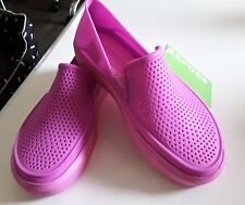 Crocs New W/Tags Citilane Roka Slip On Pink Color Size J3 Free Postage